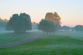 Morning Foggy Landscape Royalty Free Stock Image