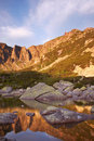 Morning in Giant mountains Royalty Free Stock Photo