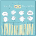 Morning gymnastics Royalty Free Stock Photo