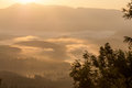 Morning haze in western ghats mountains Royalty Free Stock Photos
