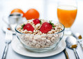 Morning Healthy cereal breakfast Royalty Free Stock Images