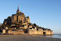 Morning light over Mont Saint Michel Stock Photography