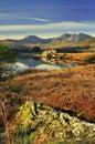 Morning light, Snowdon range, Wales Stock Image