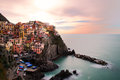 The morning of Manarola Royalty Free Stock Image