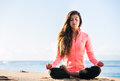 Morning meditation Stock Photography