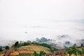 Morning mist khaokho foggy in the winter of khao kho Royalty Free Stock Images