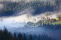 Morning mist landscape Royalty Free Stock Photo