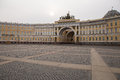 Morning at Palace square in St. Petersburg. Spring. Russia. Royalty Free Stock Photo