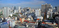 Morning Panorama of Sukhumvit in Bangkok Stock Photo
