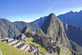 Morning rising over Machu Picchu Royalty Free Stock Photo