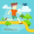 Morning Run Concept Royalty Free Stock Photo