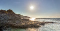 Morning sun on Giant Causeway Royalty Free Stock Photo