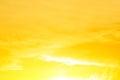 Morning sun light orange hot zone.