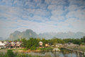 Morning at Vang Vieng, Laos. Royalty Free Stock Photos