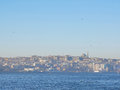 Morning view of Istanbul Bosphorus strait