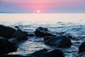 Morning view of Mediterranean sea