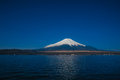 Morning view of Mount Fuji at Yamanaka Lake Stock Photos