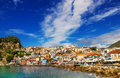 Morning view of Parga, Greece Royalty Free Stock Photo