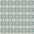 Moroccan Blues, quatrafoil background pattern seamless vector