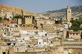 Moroccan city of fes a skyline part the Royalty Free Stock Photography