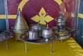 Moroccan dishware Royalty Free Stock Photo