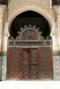 Moroccan doorway in an open courtyard Royalty Free Stock Photography
