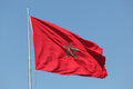 Moroccan flag waving in the wind Royalty Free Stock Images