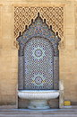 Moroccan fountain with mosaic tiles in rabat morocco Stock Images