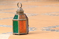 Moroccan lantern for candle Royalty Free Stock Photo