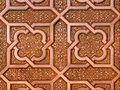 Moroccan metal arabesque design on the gates of the mosque hassan ii in casablanca morocco Stock Images