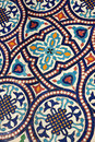 Moroccan mosaic tilework Royalty Free Stock Photo