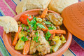 Moroccan Seven vegetables tajine Royalty Free Stock Photo