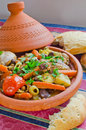 Moroccan Seven vegetables tajine Royalty Free Stock Images