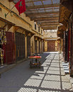 Moroccan side street a in the medina in the city of fes Stock Images