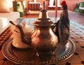 Moroccan tea metal teapot in Stock Photography
