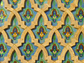 Moroccan tile wall mosque hassan ii casablanca morocco Royalty Free Stock Photography