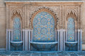 Moroccan tiled fountain typical in the city of rabat near the hassan tower and mohamed v mausoleum Royalty Free Stock Photos