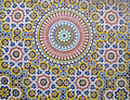 Moroccan tiles traditional found in hassan mosque casablanca morocco Stock Images