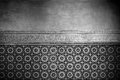 Moroccan vintage tile background black and white Royalty Free Stock Photography