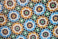 Moroccan vintage tile background colorful traditional Stock Photos