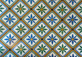 Moroccan vintage tile background retro Royalty Free Stock Image