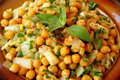 Moroccan warm chickpeas salad Stock Photography