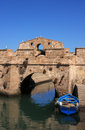 Morocco Essaouira harbour bridge Stock Photography