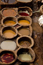 Morocco Fez Tannery  Royalty Free Stock Photos