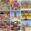 Morocco landmarks a collage with Royalty Free Stock Images