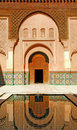 Morocco, Marrakech: Ben Youssef madrasa Royalty Free Stock Photography