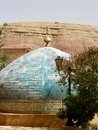 Blue dome of a Moroccan mosque Royalty Free Stock Photo