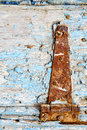 Morocco in old wood facade home and rusty safe padlock africa the Royalty Free Stock Photography