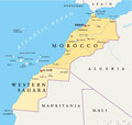 Morocco And Western Sahara Map Royalty Free Stock Photo