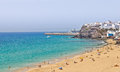Morro Jable beach and resort. Fuerteventura Royalty Free Stock Photo